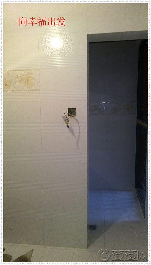 卫生间通往淋浴房的通道