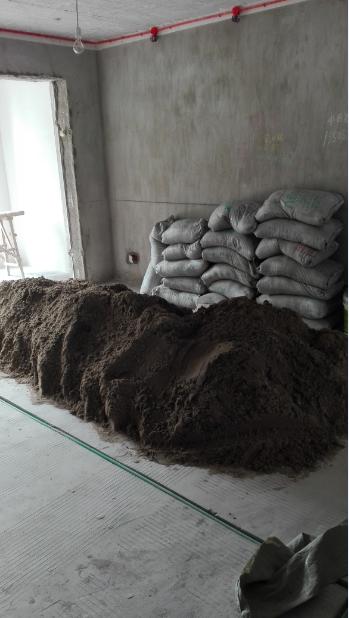 铺砖用的水泥沙子