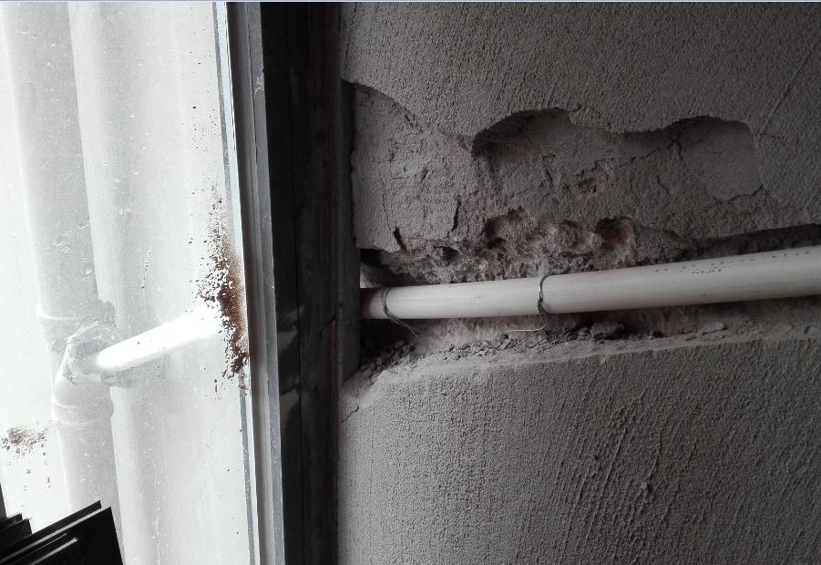 主卧空调排水管改造1