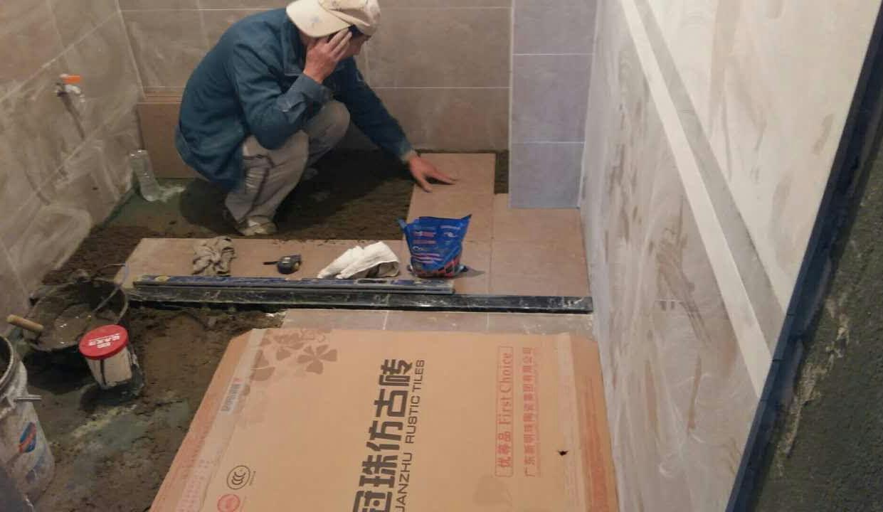瓦工铺贴瓷砖